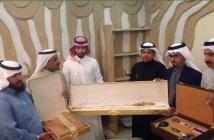 ناصر بن هزاع وإخوانه وأبناء عمه يحتقلون بالدكتور محمد بن احمد بن جريد الشمراني